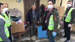 Demirköyde 400 koli gıda ve temizlik malzemesi dağıtıldı