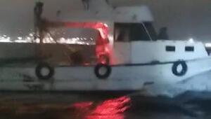 Gemlikte kaçak avlanan trol teknesine el konuldu