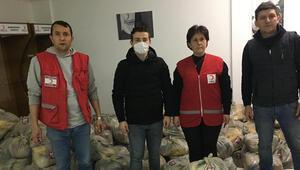 Bandırmaspordan 250 aileye erzak yardımı