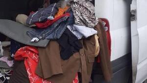 Esenyurtta polisten kaçan kıyafet hırsızları yakalandı