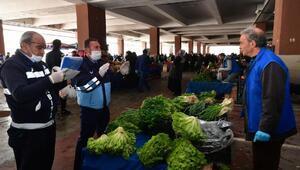 Mamakta pazar yerlerinde koronavirüs önlemi