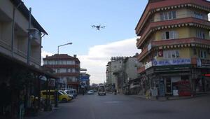 Karacasu drone ile dezenfekte ediliyor
