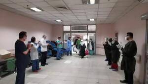 Corona virüs tedavisi tamamlanan 20 kişi alkışlar arasında taburcu oldu