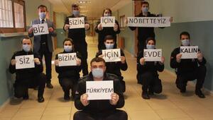 Koronavirüs salgınına karşı kendilerini 1 ay izole edecek mesai arkadaşlarına alkışla destek verdiler