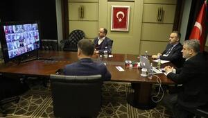 Bursada belediye başkanları telekonferans ile görüştü