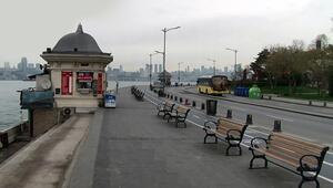 Corona virüs nedeniyle İstanbul'un sahilleri boş kaldı