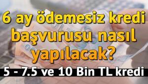Vakıfbank, Halkbank, Ziraat Bankası 6 ay ödemesiz kredi başvurusu nasıl yapılacak 5 - 7.5 ve 10 Bin TL kredi