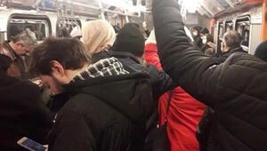 İşte İstanbulda bu sabah metrodaki manzara...