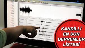 4 Nisan Kandilli son depremler listesi: En son nerede deprem oldu Deprem mi oldu