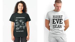 Korona tişörtleri