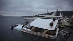 Beşiktaşta lüks tekne battı