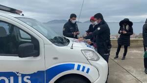 Maltepe sahilde yürüyüş yapan 3 kişiye biner lira ceza