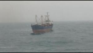 Şilede açıklarında kargo gemisi sürüklendi