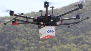 Tıbbi malzeme teslimatının en hızlı ve temassız yolu: Dronlar
