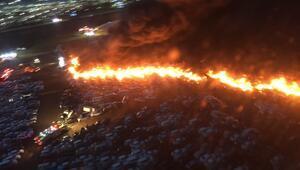 18 saat sürdü 3 bin 500 araç yandı