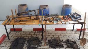 Bitlis'te sığınaklarda PKKnın silah ve mühimmatı ele geçirildi
