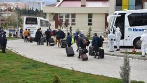 Katardan getirilen 166 Türk, Kırıkkalede yurtta gözlem altına alındı