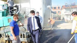Erbaada belediye ekiplerinden asfalt çalışması
