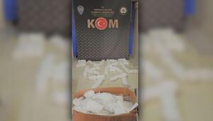 Kırıkkalede kaçak üretilen 5 bin 150 maske ele geçirildi