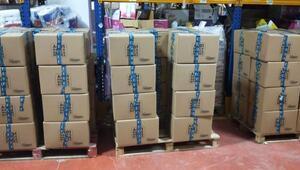 KGKnın gıda paketleri gazetecilere dağıtıldı