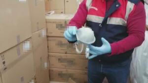 Arnavutköydeki operasyonda 11 bin maske ele geçirildi