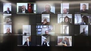 Kocasinan Belediyesinde video konferanslı toplantı