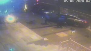 Arnavutköyde polisten kaçan sigara hırsızları kaza yaptı
