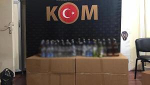 Osmaniyede kaçak ve sahte içki operasyonu