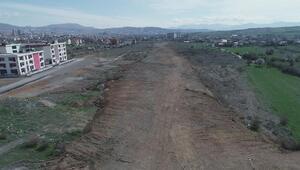 Elazığda trafiği rahatlatacak yolların yapımı sürüyor