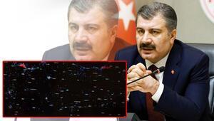 Son dakika haberi: Türkiyede il il corona virüs vakalarını Bakan Koca harita ile açıkladı Dikkat çeken detay