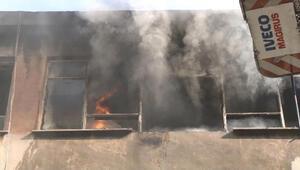 Bursada iş hanında yangın; kundaklama iddiası