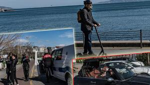 Yasakları dinlemediler... İstanbulda dikkat çeken kareler