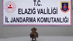 Elazığda Hitit dönemine ait heykel ele geçirildi