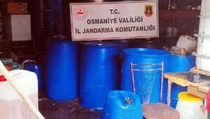 Osmaniyede kaçak dezenfektan operasyonu