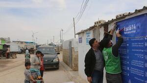 Suriyedeki kamplarda salgın tedbiri