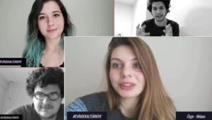Öğrencilerden corona virüs karantinası videosu