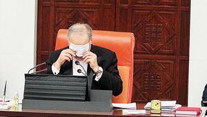 Meclis'te sosyal mesafe uyarısı