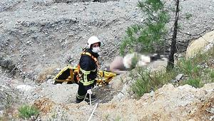 Kekik toplarken yamaçtan yuvarlanan kişi öldü
