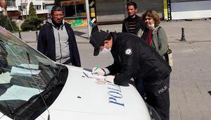 Gaziantepte sokağa çıkan vatandaşlara ceza yazıldı