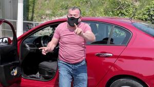 Sürücü ile polis arasında dakikalar süren alkolmetre tartışması