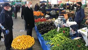Vali Seymenoğlu pazar yerlerini denetledi
