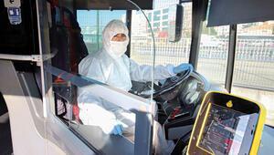Metrobüs şoförleri tulum giyecek