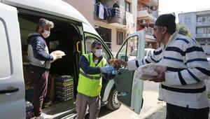 Bucada Belediye 25 bin boyoz ve yumurta dağıtıldı