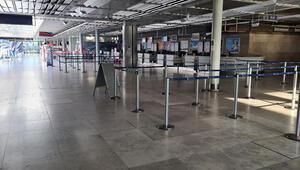 Paskalya'da havaalanları boş kaldı: Uçuşlar yüzde 90 azaldı