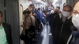 İzmirde metroda doluluk tepkisi