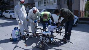 Edirne drone ile havadan da dezenfekte ediliyor