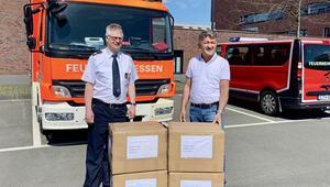 Essen Belediyesi'ne 10 bin maske hibe etti