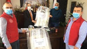 Hatayda gıda denetçileri ve veteriner hekimlere siperlikli maske