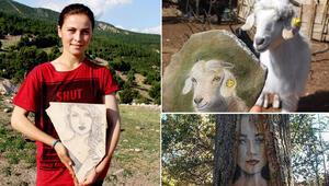 Ressam çoban Eserleri doğayı süslüyor