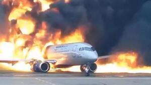 Rusyada korkunç uçak kazasının yeni görüntüleri ortaya çıktı